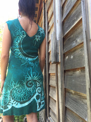 Caribbean Forest Organic Cotton Batik Dress - Batikwalla   - 4