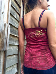 Red Roots Tree of Life Stretchy Batik Camisole - Batikwalla   - 6