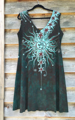 Usnea Om Tree Organic Cotton Batik Dress - Size XL - Batikwalla   - 6