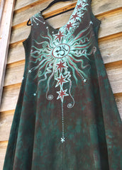 Usnea Om Tree Organic Cotton Batik Dress - Size XL - Batikwalla   - 2