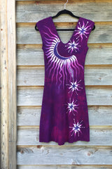 Magenta Star Seed Organic Cotton Batik Dress - Batikwalla   - 8