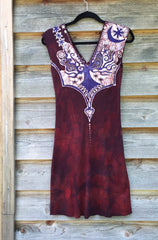 Red Heart Root Tree Organic Cotton Batik Dress - Size Small - Batikwalla   - 9