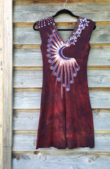 Red Heart Root Tree Organic Cotton Batik Dress - Size Small - Batikwalla   - 10