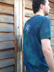 Teal and Purple Tree of Life Organic Batik Tshirt - Batikwalla   - 5