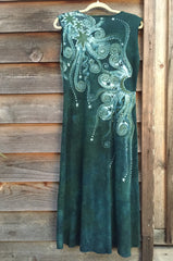 Sage Under the Moonlight Handmade Batik Dress - Batikwalla   - 7