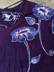 Flower Power Handmade Batik Tee - Plus Size - 5X