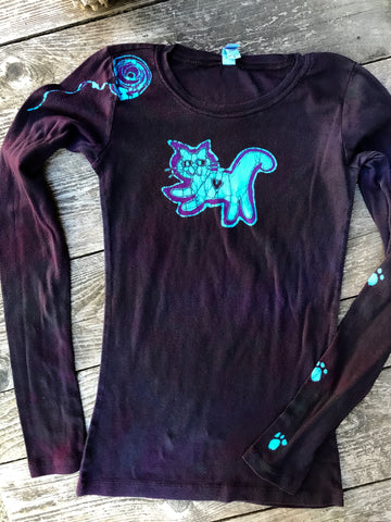 The Cat's Meow Handmade Long Sleeve Batik Top - SIZE SMALL ONLY