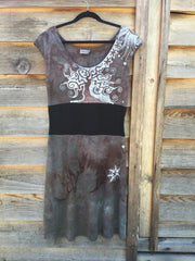 Spring Oak Organic Cotton Hemp Batik Dress - Batikwalla   - 4
