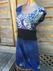 Blue River Batik Organic Cotton Hemp Summer Dress - Batikwalla   - 3