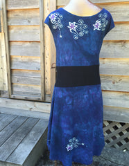 Blue River Batik Organic Cotton Hemp Summer Dress - Batikwalla   - 5