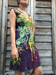 Mystic Stardust Organic Cotton Batik Dress - Batikwalla   - 2