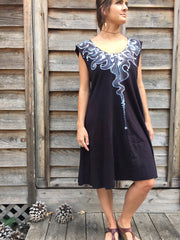 Lava Rock Organic Cotton Batik Dress - Batikwalla   - 6