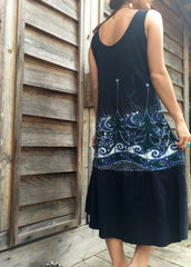 Forest River Fishies Batik Dress in Organic Cotton - Size Large - Batikwalla   - 4