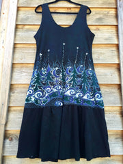 Forest River Fishies Batik Dress in Organic Cotton - Size Large - Batikwalla   - 6