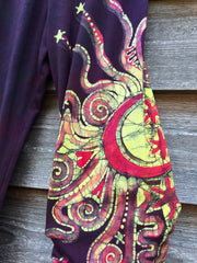 Crazy Hearts Handmade Batik Yoga Pants - Size Medium - Batikwalla   - 7