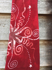 Dark Red Batik Yoga Pants - Size Large - Batikwalla   - 6