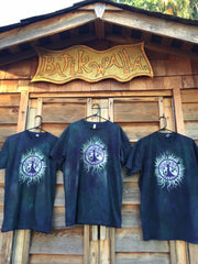 Teal and Purple Tree of Life Organic Tshirt - Batik Print - Batikwalla   - 5