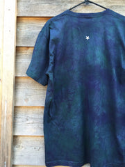 Teal and Purple Tree of Life Organic Tshirt - Batik Print - Batikwalla   - 3