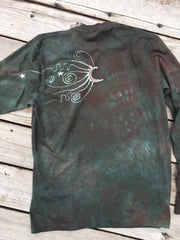 The Earth Is Magic Tree of Life Long Sleeve Batik Mens Tshirt - Size Large - Batikwalla   - 2