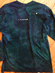 Teal and Purple Tree of Life Long Sleeve Batik Mens Tshirt - Size XL - Batikwalla   - 3