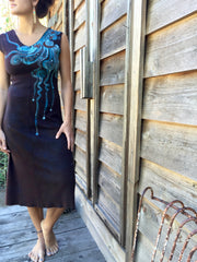 Reflections of a Midnight Moon Organic Cotton Batik Dress - Batikwalla   - 3