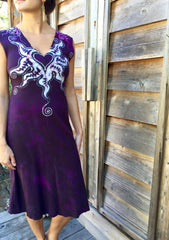 Untethered Love Medallion Organic Cotton Batik Dress - Batikwalla   - 3