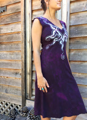 Untethered Love Medallion Organic Cotton Batik Dress - Batikwalla   - 4