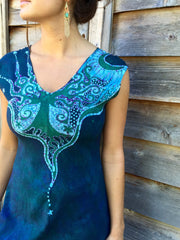 Swing Into The River Tree Organic Cotton Batik Dress - Batikwalla   - 1