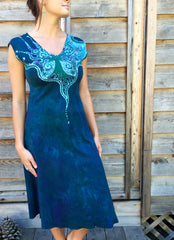 Swing Into The River Tree Organic Cotton Batik Dress - Batikwalla   - 3
