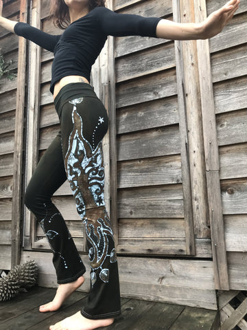 Star Of The Forest Handmade Batikwalla Yoga Pants - Size XS