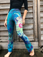 Dancing Sunrise Sunset Handmade Batikwalla Yoga Pants