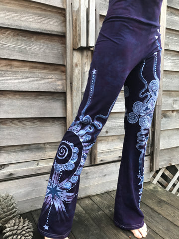 Moonberry Mist Handmade Batikwalla Yoga Pants - Size XL