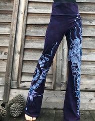 Moon Berry Mist Handmade Batikwalla Yoga Pants