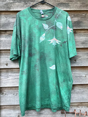 Peach Fuchsias Are Surprising In The Springtime Handmade Batikwalla Tshirt - Size 3X - Tall