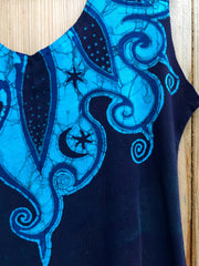 Blue Orchid Batikwalla Dress in Organic Cotton - Size Large