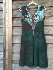 Usnea in the Oak Tree Organic Cotton Batik Dress - Batikwalla   - 6