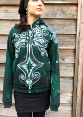 Wisdom Of The Seed Tree Organic Cotton Batik Hoodie - Unisex Small