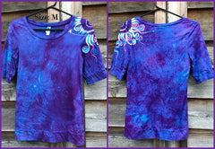 Purple Hyacinth Sunny Day Sale Basket Batik Top