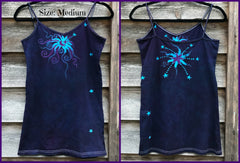 Deep Purple Midnight Moonbeams Long & Stretchy Batik Camisole - Size XL