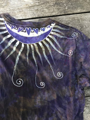 Passion Of The Moonflower Has Your Back Handmade Batik Tshirt - Size 2X TALL tshirt batikwalla