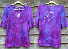 Light Purple and Turquoise Star Sale Basket Top - Batikwalla   - 4