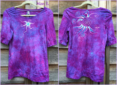 Light Purple and Turquoise Star Sale Basket Top - Batikwalla   - 6