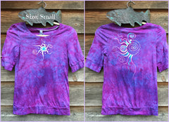 Light Purple and Turquoise Star Sale Basket Top - Batikwalla   - 8