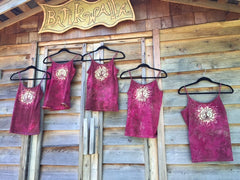 Red Roots Tree of Life Stretchy Batik Camisole - Batikwalla   - 8
