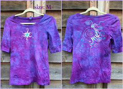 Light Purple and Turquoise Star Sale Basket Top - Batikwalla   - 7