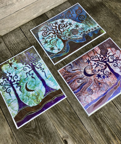 3 Pack - Batikwalla Victoria Batik Canvas Art Prints