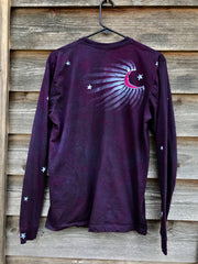 Nature Of Fractals Long Sleeve Organic Cotton Tshirt - Size Large tshirt batikwalla