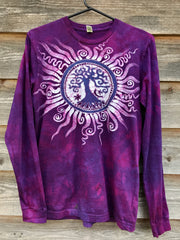 Mulberry Tree of Life Long Sleeve Batik Tshirt tshirt batikwalla Medium