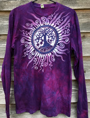 Mulberry Tree of Life Long Sleeve Organic Cotton Tshirt - Size Large tshirt batikwalla