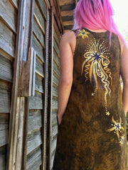 Gold Rush Summer Dress Batik Dresses Batikwalla by Victoria